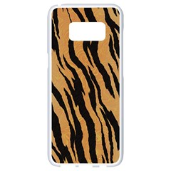 Animal Tiger Seamless Pattern Texture Background Samsung Galaxy S8 White Seamless Case