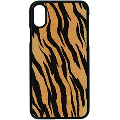 Animal Tiger Seamless Pattern Texture Background Apple Iphone X Seamless Case (black) by BangZart