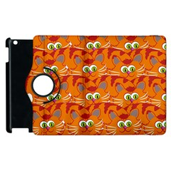 Animals Pet Cats Mammal Cartoon Apple Ipad 3/4 Flip 360 Case