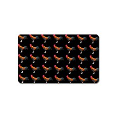 Background Pattern Chicken Fowl Magnet (name Card)