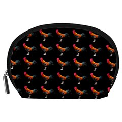 Background Pattern Chicken Fowl Accessory Pouches (large)