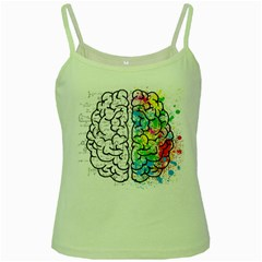 Brain Mind Psychology Idea Hearts Green Spaghetti Tank