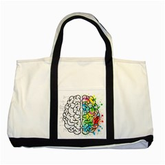 Brain Mind Psychology Idea Hearts Two Tone Tote Bag