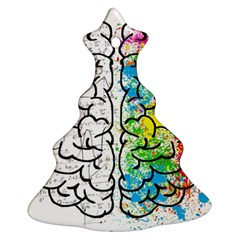 Brain Mind Psychology Idea Hearts Ornament (christmas Tree)