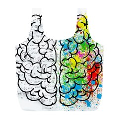 Brain Mind Psychology Idea Hearts Full Print Recycle Bags (l)