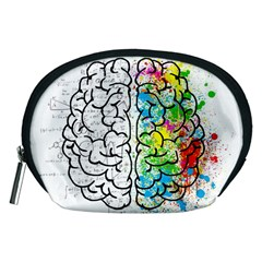 Brain Mind Psychology Idea Hearts Accessory Pouches (medium)  by BangZart