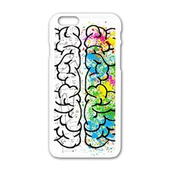 Brain Mind Psychology Idea Hearts Apple Iphone 6/6s White Enamel Case