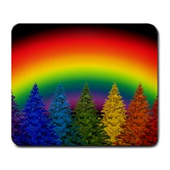 Christmas Colorful Rainbow Colors Large Mousepads