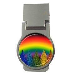 Christmas Colorful Rainbow Colors Money Clips (round)  by BangZart