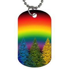 Christmas Colorful Rainbow Colors Dog Tag (one Side) by BangZart