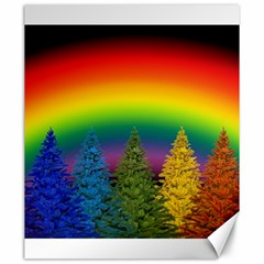 Christmas Colorful Rainbow Colors Canvas 20  X 24