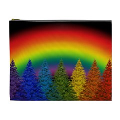 Christmas Colorful Rainbow Colors Cosmetic Bag (xl) by BangZart