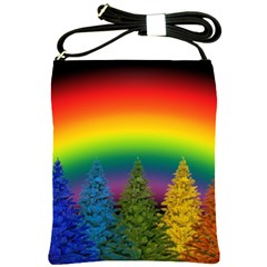 Christmas Colorful Rainbow Colors Shoulder Sling Bags