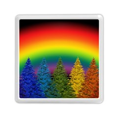 Christmas Colorful Rainbow Colors Memory Card Reader (square)