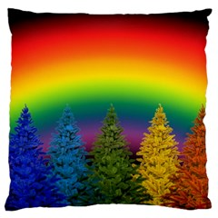 Christmas Colorful Rainbow Colors Large Cushion Case (one Side) by BangZart