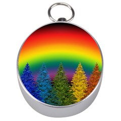 Christmas Colorful Rainbow Colors Silver Compasses by BangZart