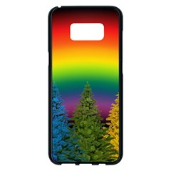 Christmas Colorful Rainbow Colors Samsung Galaxy S8 Plus Black Seamless Case