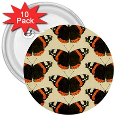 Butterfly Butterflies Insects 3  Buttons (10 Pack)  by BangZart