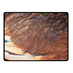 Feather Chicken Close Up Red Fleece Blanket (small) by BangZart