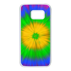 Spot Explosion Star Experiment Samsung Galaxy S7 White Seamless Case by BangZart
