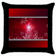 Christmas Candles Christmas Card Throw Pillow Case (black) by BangZart