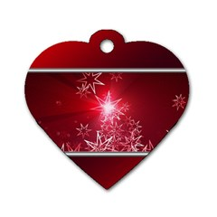 Christmas Candles Christmas Card Dog Tag Heart (one Side) by BangZart