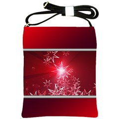 Christmas Candles Christmas Card Shoulder Sling Bags by BangZart