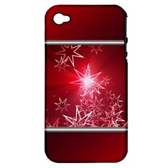 Christmas Candles Christmas Card Apple Iphone 4/4s Hardshell Case (pc+silicone) by BangZart