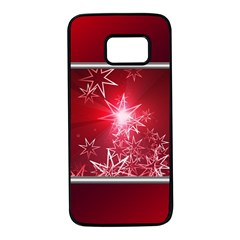 Christmas Candles Christmas Card Samsung Galaxy S7 Black Seamless Case