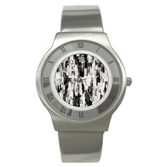Pattern Structure Background Dirty Stainless Steel Watch by BangZart