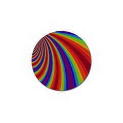 Abstract Pattern Lines Wave Golf Ball Marker by BangZart