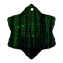 Matrix Communication Software Pc Ornament (snowflake) by BangZart