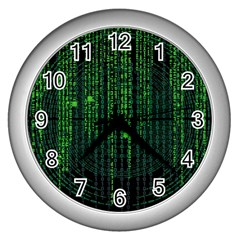 Matrix Communication Software Pc Wall Clocks (silver)