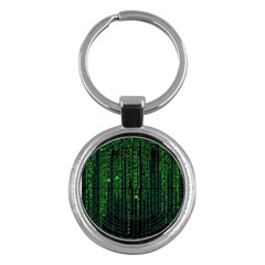 Matrix Communication Software Pc Key Chains (round)  by BangZart