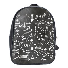 Arrows Board School Blackboard School Bag (xl) by BangZart