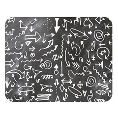 Arrows Board School Blackboard Double Sided Flano Blanket (large)