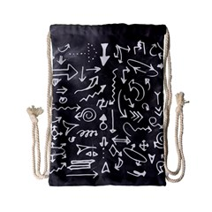 Arrows Board School Blackboard Drawstring Bag (small)