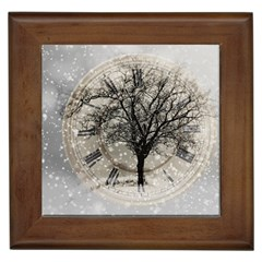 Snow Snowfall New Year S Day Framed Tiles by BangZart