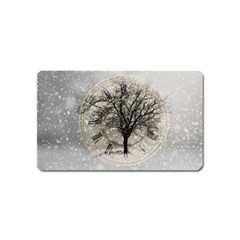 Snow Snowfall New Year S Day Magnet (name Card) by BangZart