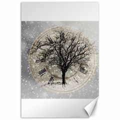 Snow Snowfall New Year S Day Canvas 24  X 36  by BangZart