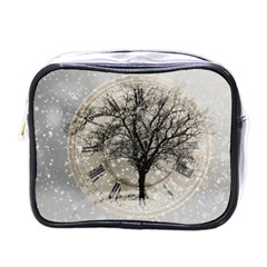 Snow Snowfall New Year S Day Mini Toiletries Bags by BangZart