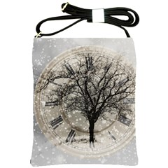 Snow Snowfall New Year S Day Shoulder Sling Bags by BangZart