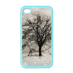 Snow Snowfall New Year S Day Apple Iphone 4 Case (color)