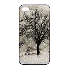 Snow Snowfall New Year S Day Apple Iphone 4/4s Seamless Case (black) by BangZart