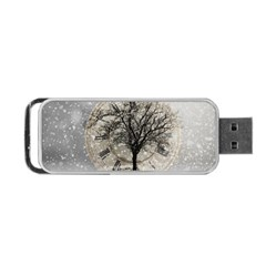 Snow Snowfall New Year S Day Portable Usb Flash (two Sides) by BangZart