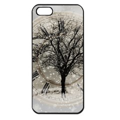 Snow Snowfall New Year S Day Apple Iphone 5 Seamless Case (black) by BangZart