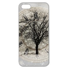 Snow Snowfall New Year S Day Apple Seamless Iphone 5 Case (clear) by BangZart