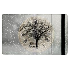 Snow Snowfall New Year S Day Apple Ipad 3/4 Flip Case by BangZart