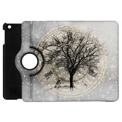 Snow Snowfall New Year S Day Apple Ipad Mini Flip 360 Case
