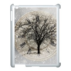 Snow Snowfall New Year S Day Apple Ipad 3/4 Case (white) by BangZart